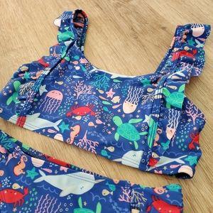 Cat and Jack Girls Swimsuit Ocean Sea Creatures